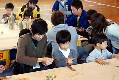 ナイフの使い方から教わる子ども達